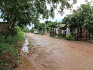 Muddy road after rain