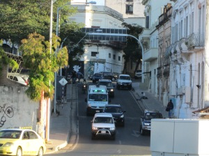 Uphill street in Asunción